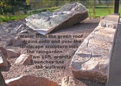 11 Rain garden Bench viewwith words
